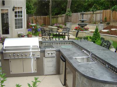 Outdoor Kitchen Granite Bay Landscape